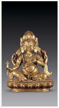 铜鎏金象鼻财神像 -  - 佛像唐卡 - 2007春季艺术品拍卖会 -收藏网