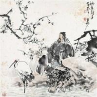 梅妻鹤子 镜片 设色纸本 - 4486 - 中国书画 - 2012年迎春艺术品拍卖会 -收藏网