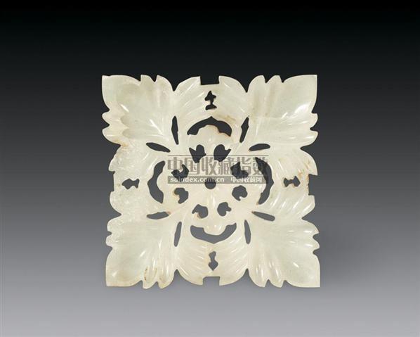 玉雕花卉片图片
