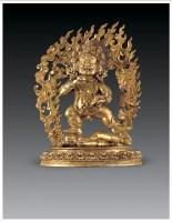 铜鎏金黑财神像 -  - 佛像唐卡 - 2007春季艺术品拍卖会 -收藏网