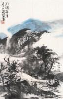 排闼送青 镜片 纸本 - 119286 - 中国书画(二) - 2011春季艺术品拍卖会 -收藏网