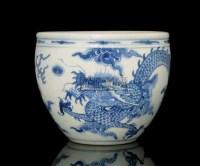 A BLUE AND WHITE JARDINIERE,KANGXI (1662-1722) -  - 中国进出口瓷器 - 2009秋季拍卖会(二) -收藏网