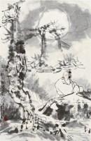 明月松间照 镜片 设色纸本 - 116212 - 长安之风 - 首届艺术品拍卖会 -中国收藏网