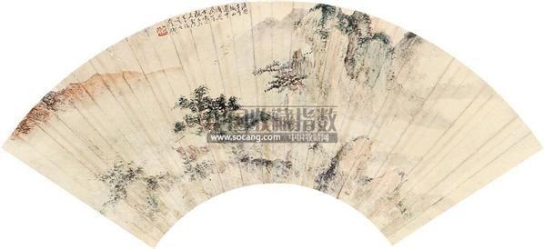 山水 扇面 设色纸本 - 1546 - 中国书画(一) - 2010秋季艺术品拍卖会 -收藏网