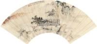 山水 扇面 设色纸本 - 钱瘦铁 - 中国书画(一) - 2010秋季艺术品拍卖会 -收藏网