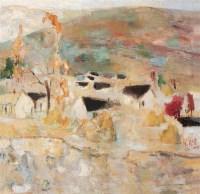 张钦若 1991年 乡村 布面 油画 - 张钦若 - 中国油画及雕塑 - 2006秋季拍卖会 -收藏网