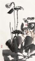 野趣 立轴 设色纸本 - 114954 - 中国书画一 - 2011年秋季大型艺术品拍卖会 -收藏网