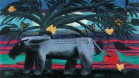 乐园 布面油画 -  - 中国油画 - 2005秋季大型艺术品拍卖会 -收藏网