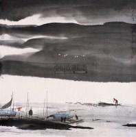 湖上生涯 镜心 设色纸本 - 119130 - 中国书画 - 第55期中国艺术精品拍卖会 -收藏网