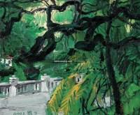 林荫树下 布面油画 - 王琨 - 中国西画及漆画 - 2007秋季拍卖会 -收藏网