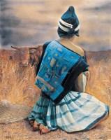 牧女 布面 油画 - 12746 - 油画、雕塑、版画暨广东油画、水彩 - 2006冬季拍卖会 -收藏网