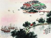 钱松劐(1899-1985)  湖上朝晖 -  - 中国近现代书画专场 - 2007年秋季拍卖会 -收藏网