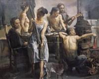 画室密语 布面油彩 - 155283 - 中国油画(一) - 2006年中国艺术品春季拍卖会 -收藏网
