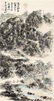 山水人物 立轴 纸本 - 116142 - 中国书画(一) - 庆二周年秋季拍卖会 -收藏网