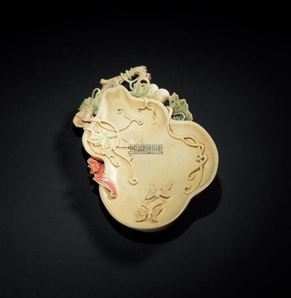 象牙加彩雕福禄万代笔洗 -  - 月漫清游—象牙专场 - 2011秋季杂项专场拍卖会 -中国收藏网