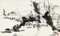 运粮图 镜心 设色纸本 - 7693 - 小品专场 - 首届艺术品拍卖会 -收藏网