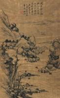山水 立轴 设色纸本 - 18117 - 中国书画专场 - 迎新春书画精品拍卖会 -中国收藏网