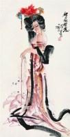 仕女 立轴 设色纸本 -  - 中国书画 - 2008太平洋迎春艺术品拍卖会 -收藏网