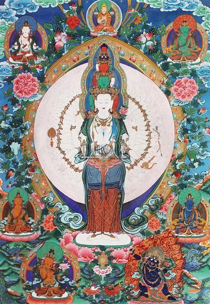 唐卡千手观音 -  - 中国书画 - 2011年春季艺术品拍卖会 -收藏网