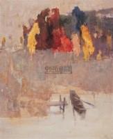 小舟 布面油画 - 张钦若 - 中国油画及雕塑 - 2005秋季拍卖会 -收藏网