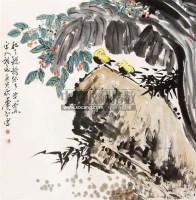 花鸟 立轴 纸本 - 119102 - 中国当代名家书画专场 - 2011年春季艺术品拍卖会 -收藏网