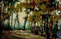 风景 木板油画 - 罗工柳 - 中国油画专场 - 2009秋季拍卖会 -收藏网