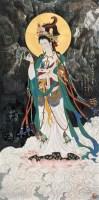南无观世音菩萨 镜心 设色纸本 - 尼玛泽仁 - 中国当代水墨 - 2006秋季拍卖会 -收藏网
