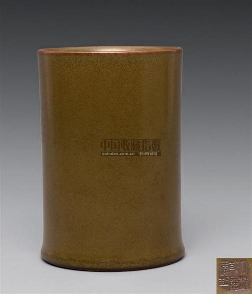 鳝鱼黄釉笔筒 - - 古代瓷器工艺品专场 - 2008春季艺术品拍卖会 -中国