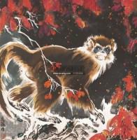 金丝猴 镜心 设色纸本 - 10384 - 中国书画 - 北京康泰首届艺术品拍卖会 -收藏网