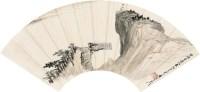 秋江远眺 扇面 镜片 设色纸本 - 116070 - 《禾风曳竹》名家成扇专场 - 2011年首届艺术品拍卖会 -收藏网