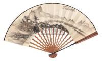 晓烟吹绿 成扇 设色纸本 - 祁昆 - 中国书画 - 2006年秋季拍卖会 -收藏网