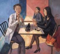 远离城市的地方 布面油画 - 王岩 - 中国油画专场 - 2008春季艺术品拍卖会 -收藏网