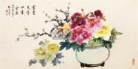 牡丹富贵图 镜框 设色纸本 - 8658 - 风雅颂·中国书画 - 首届当代艺术品拍卖会 -收藏网