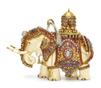 ELEPHANT ORNAMENT 宝石 象牙 象摆件 -  - 珠宝 & 钟表 - 2011秋季伊斯特香港拍卖会 -收藏网