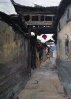古村 布面 油画 - 王琨 - 油画版画 - 2007太平洋秋季艺术精品拍卖会 -收藏网