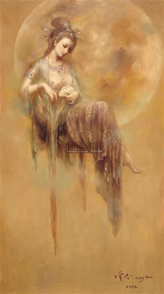 敦煌人物水彩手绘