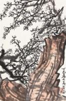 梅石图 立轴 设色纸本 - 139807 - 中国书画(三)—载玉怀珠 - 2011春季艺术品拍卖会 -收藏网