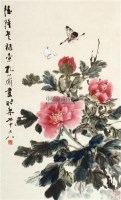 花蝶图 立轴 设色纸本 - 122234 - 中国书画 - 2011年夏季艺术品拍卖会 -中国收藏网