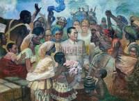 友谊连四海 布面油画 - 安杰 - 中国油画 - 2005秋季大型艺术品拍卖会 -收藏网