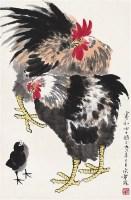 公鸡图 立轴 设色纸本 - 137234 - 中国书画艺术品专场 - 2011年秋季艺术品拍卖会 -收藏网