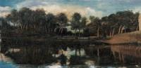 风景 木板油画 - 116759 - 中国油画(二) - 2006年中国艺术品春季拍卖会 -收藏网