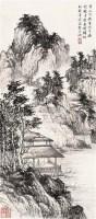 溪山闲居图 立轴 设色纸本 - 俞叔渊 - 芝蔚堂珍藏书画 - 2005春季大型艺术品拍卖会-第一场 -收藏网