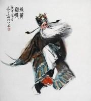 戏剧人物 立轴 设色纸本 - 9661 - 当代书画名家精品专场 - 2008春季拍卖会 -收藏网