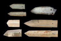 A GROUP OF SEVEN JADE BLADES,SHANG DYNASTY (1600-1100BC) AND LATER -  - 中国进出口瓷器 - 2009秋季拍卖会(二) -收藏网