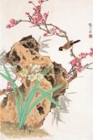 水仙麻雀 镜心 设色纸本 - 7636 - 中国书画 - 2006春季拍卖会 -收藏网