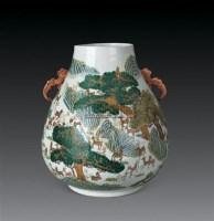 民国 粉彩百鹿尊 -  - 瓷器玉器工艺品 - 2007秋季艺术品拍卖会 -收藏网