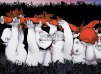 把爱送给你 布面 丙烯 -  - 红色经典及当代艺术 - 2009秋季拍卖会 -收藏网