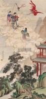神仙故事 立轴 设色绢本 - 彭旸 - 中国书画(一)京津画派作品 - 2005春季文物展销会 -收藏网