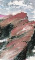 红岩上 镜心 设色纸本 - 131604 - 中国书画专场 - 2008年迎春艺术品拍卖会 -收藏网