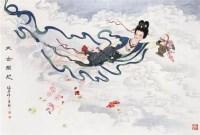 工笔人物 带框 设色纸本 - 139820 - 中国书画专场 - 2008第三季艺术品拍卖会 -收藏网